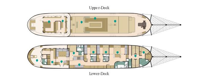 Adelaar Liveaboard - Deck Plan